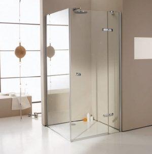 Drzwi skrzydłowe ze stałym segmentem do ścianki bocznej / wejście narożnikowe Huppe Enjoy pure 80cm Prawe montaż na brodziku 4T0202.087.322 Anti-plaque