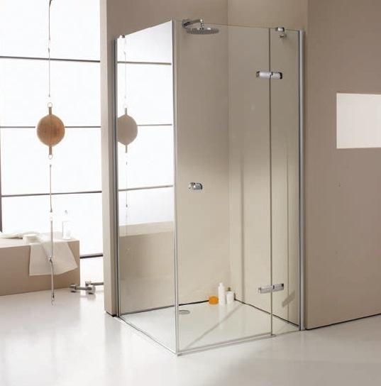 Drzwi skrzydłowe ze stałym segmentem do ścianki bocznej / wejście narożnikowe Huppe Enjoy pure  120cm Prawe montaż na równi z posadzką 4T0210.087.322 Anti-plaque