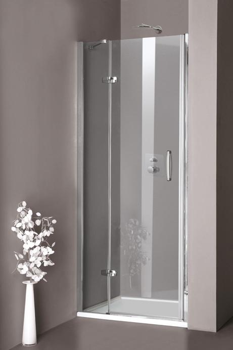 Drzwi skrzydłowe Huppe Aura elegance ze stałym segmentem do wnęki 100cm Lewe 400103.087.321