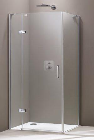 Ścianka boczna Huppe Aura elegance 90cm 400604.087.322 Anti-plaque