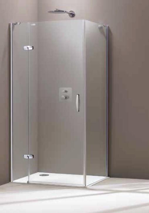 Drzwi skrzydłowe Huppe Aura elegance ze stałym segmentem do ścianki bocznej 80cm Lewe 400307.087.322 Anti-plaque