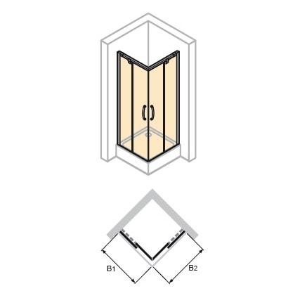 Zdjęcie Kabina suwana 2-częściowa Huppe Aura elegance na wymiar 401380.087.322 Anti-plaque