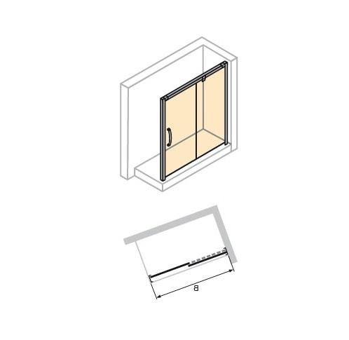 Zdjęcie Drzwi suwane 1-częściowe ze stałym segmentem Huppe Aura elegance 130cm Prawe 401505.087.322 Anti-plaque