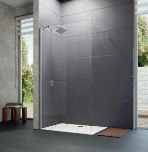 Ścianka boczna wolnostojąca Huppe Design pure 110cm 8P1104.087.322 Anti-plaque
