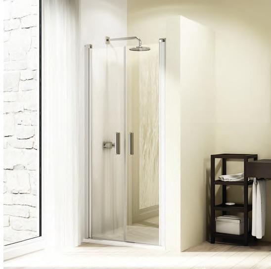 Drzwi skrzydłowe wahadłowe 4-kątne Huppe Design Elegance 100cm 8E1303.087.322 Anti-plaque