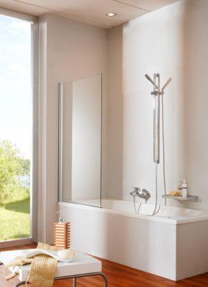 Parawan nawannowy Huppe Design elegance 1-częściowy 75cm 8E1901.087.322 Anti-plaque