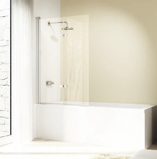 Drzwi skrzydłowe składane nawannowe Huppe Design elegance 100cm Lewe 8E2301.087.322 Anti-plaque