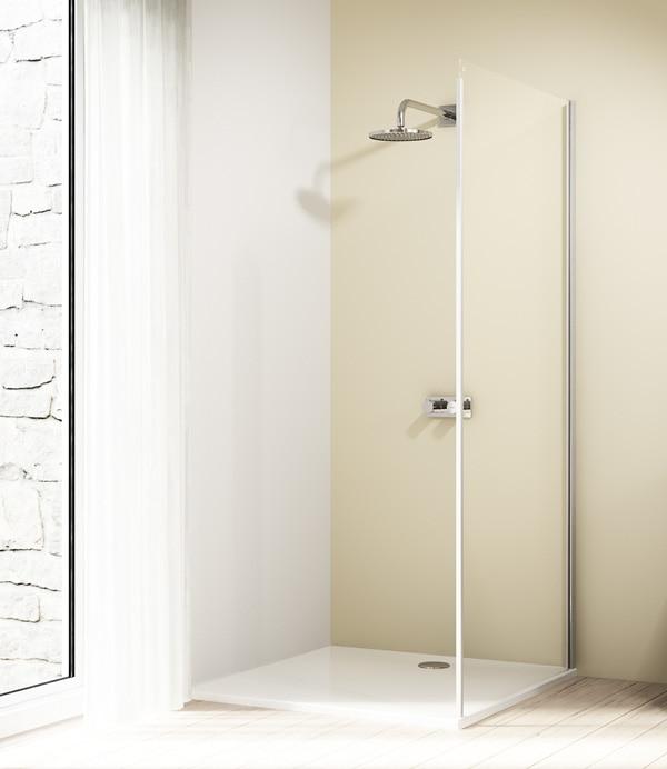 Ścianka boczna 4-kątna Huppe Design Elegance do drzwi suwanych 1-częściowych ze stałym segmentem 100cm Prawa 8E2808.087.322 Anti-plaque