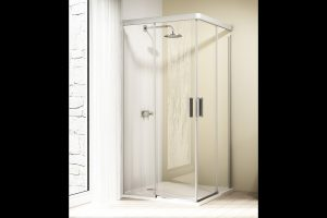Kabina Huppe Design Elegance 4-kątna drzwi suwane 2-częściowe 90x90cm 8E2902.087.322 Anti-plaque