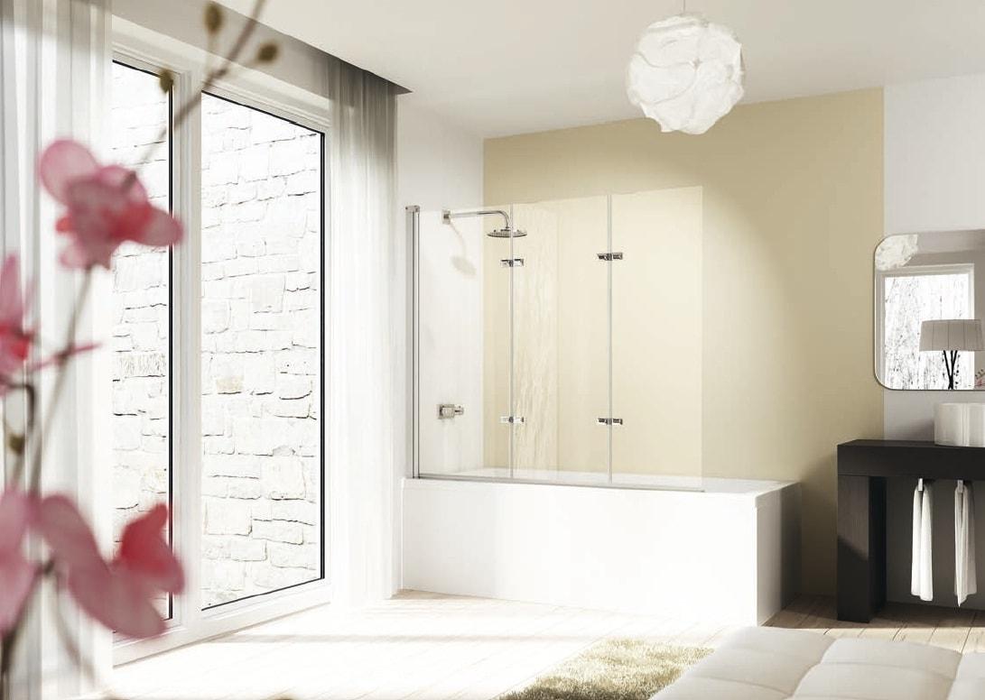 Parawan nawannowy Huppe Design elegance 3-częściowy Lewy 120cm 8E6501.087.322 Anti-plaque