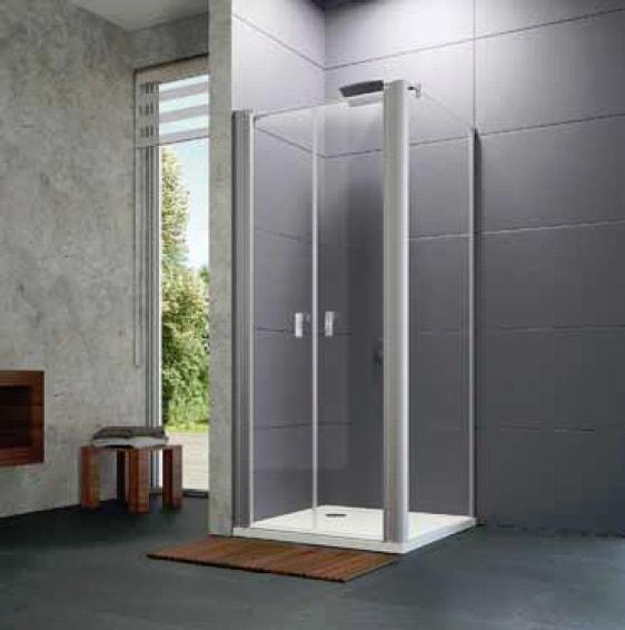 Ścianka boczna 4-kątna Huppe Design pure do drzwi wahadłowych 75cm 8P1502.087.322 Anti-plaque