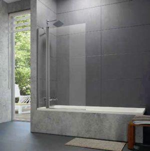Parawan nawannowy Huppe Design pure 2-częściowy 95cm 8P2001.087.322 Anti-plaque