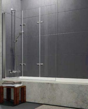 Parawan nawannowy Huppe Design pure 3-częściowy Lewy 120cm 8P6501.087.322 Anti-plaque