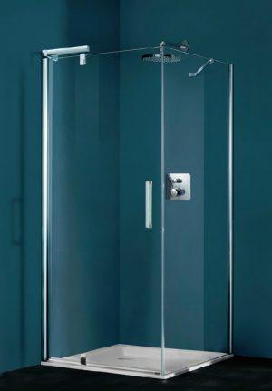 Ścianka boczna do drzwi skrzydłowych 4-kątna Huppe Refresh 90cm 9P0704.087.322 Anti-plaque