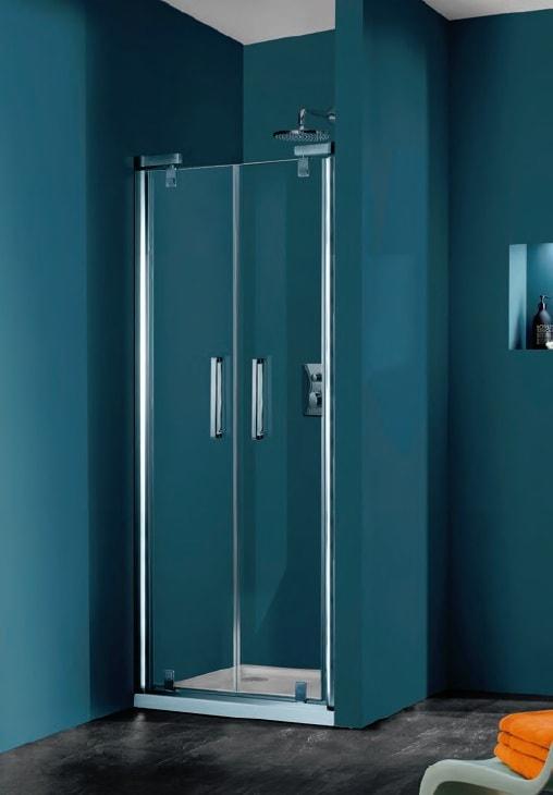 Drzwi wahadłowe 4-kątne Huppe Refresh do wnęki 90cm 9P0903.087.322 Anti-plaque
