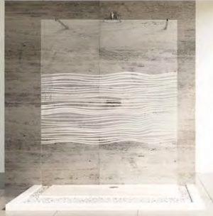 Ścianka boczna wolnostojąca Huppe Studio Paris pure na wymiar BR0509.E05.322 Anti-plaque