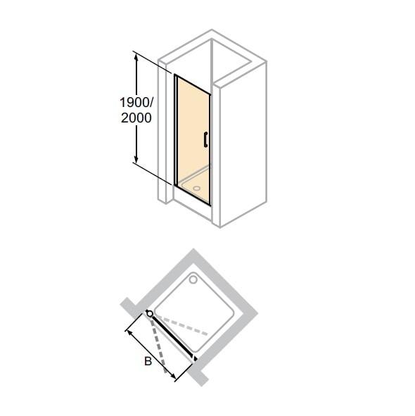 Zdjęcie Drzwi skrzydłowe do wnęki Huppe Classics 2 88cm C23511.087.322 Anti-plaque