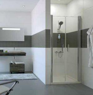 Drzwi wahadłowe do wnęki Huppe Classics 2 100cm C23706.069.322 Anti-plaque
