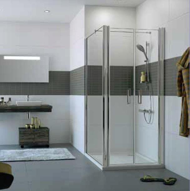 Drzwi wahadłowe do ścianki bocznej Huppe Classics 2 100cm C23806.069.322 Anti-plaque