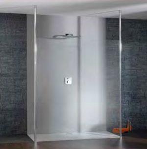 Ścianka boczna wolnostojąca Huppe Studio Paris elegance na wymiar PT0509.E05.322 Anti-plaque