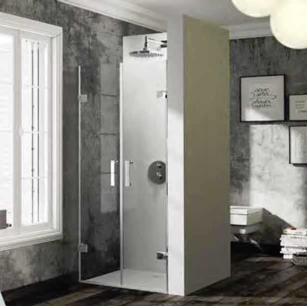 Drzwi wahadłowe do wnęki Huppe Solva pure na wymiar 600-1200 powyżej 2m SR3381.092.321