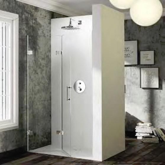 Drzwi skrzydłowe składane do wnęki Huppe Solva pure prawe na wymiar 500-1250 SR4480.092.322 Anti-plaque