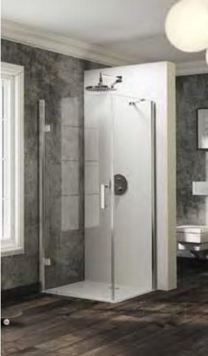 Ścianka boczna do drzwi skrzydłowych Huppe Solva pure 90cm ST0815.092.322 Anti-plaque