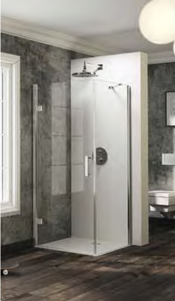 Ścianka boczna do drzwi skrzydłowych Huppe Solva pure na wymiar 200-1200 ST0880.092.322 Anti-plaque