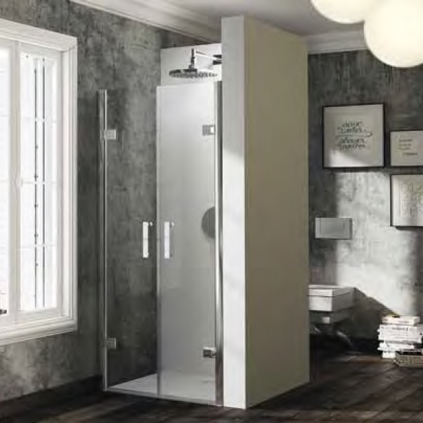 Drzwi wahadłowe do wnęki Huppe Solva pure na wymiar 600-1200 powyżej 2m ST3381.092.321