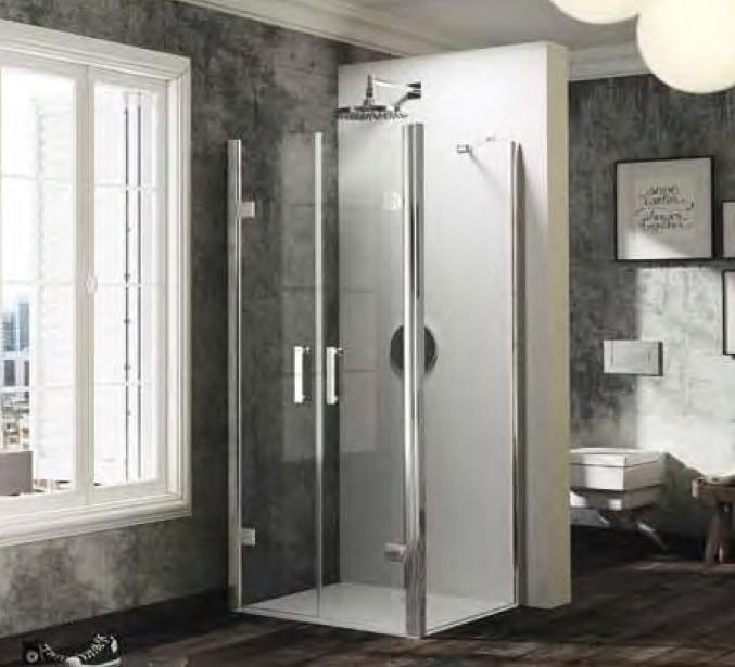Drzwi wahadłowe do ścianki bocznej Huppe Solva pure 110cm ST4109.092.321