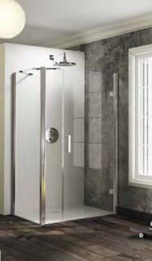 Ścianka boczna do drzwi skrzydłowych lub wahadłowych Huppe Solva pure 90cm lewa ST5015.092.321