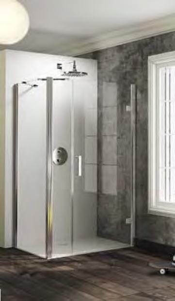 Ścianka boczna do drzwi skrzydłowych lub wahadłowych Huppe Solva pure 90cm lewa ST5004.092.321