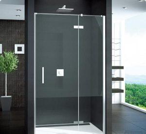 MEGA WYPRZEDAŻ! Drzwi prysznicowe Sanswiss Pur 1235/2000 ze ścianką stałą prawe bezprofilowe  PU13DSM11007 @ ^