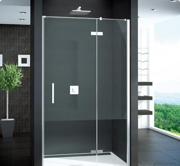 Zdjęcie MEGA WYPRZEDAŻ! Drzwi prysznicowe Sanswiss Pur 1235/2000 ze ścianką stałą prawe bezprofilowe  PU13DSM11007 @ ^