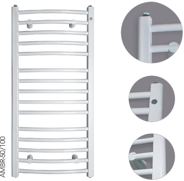 Grzejnik łazienkowy Instal-Projekt Ambra R AMBR-50/120 biały