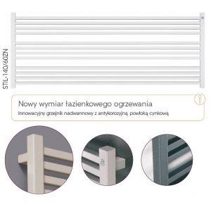 Grzejnik łazienkowy Instal-Projekt Stick Level STIL-160/60ZN kolory