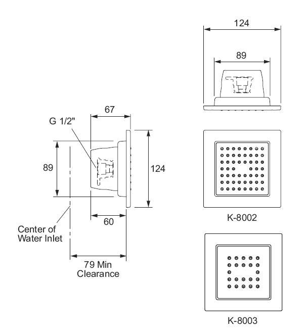 Zdjęcie Panel ścienny Kohler WaterTile z 22 dyszami wodnymi 8003-CP @