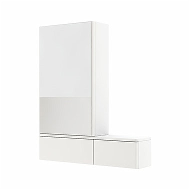 Szafka wisząca z lustrem Koło Nova Pro 70cm biały połysk 88432-000 lewa