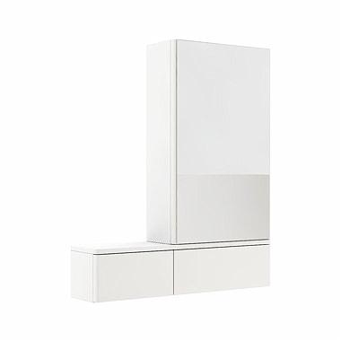 Szafka wisząca z lustrem Koło Nova Pro 70cm biały połysk 88433-000 prawa