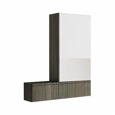 Szafka wisząca z lustrem Koło Nova Pro 70cm szary jesion 88442-000 prawa