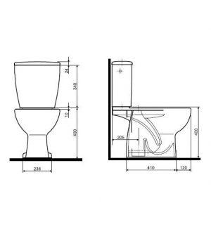 Zdjęcie WC kompakt Koło Rekord, odpływ pionowy K99001000