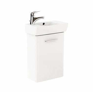 Szafka pod umywalkę z umywalką Koło Nova Pro 45cm biały połysk M39002000 lewa