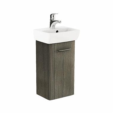 Szafka pod umywalkę z umywalką Koło Nova Pro 36cm szary jesion M39007000