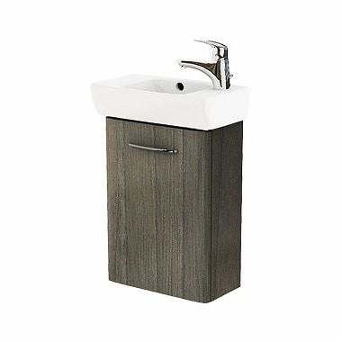 Szafka pod umywalkę z umywalką Koło Nova Pro 45cm szary jesion M39009000 prawa
