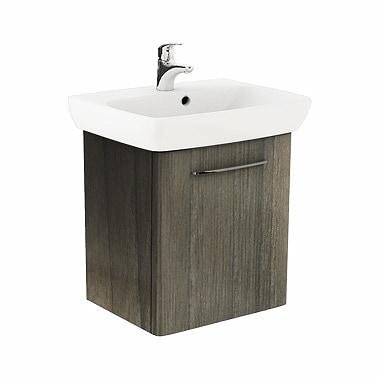 Szafka pod umywalkę z umywalką Koło Nova Pro 60cm szary jesion M39012000