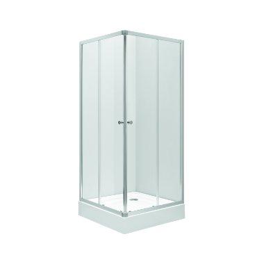 Kabina kwadratowa Koło First 80cm z drzwiami rozsuwanymi satynowymi ZKDK80214003