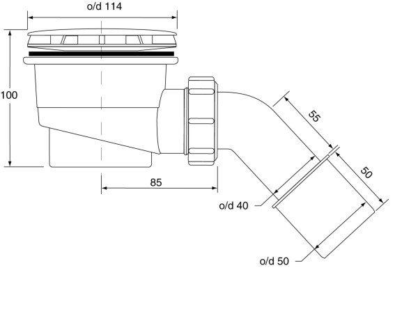 Zdjęcie Syfon brodzikowy McAlpine HC27 Złoty HC27-GP