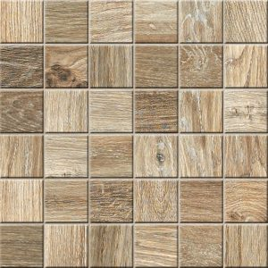 Mozaika podłogowa deskopodobna Novabell My Space Cognac ESP335K 30x30