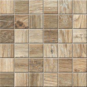 Mozaika podłogowa deskopodobna Novabell My Space Plus Lappato Cognac ESPM33L 30x30