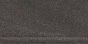 Stopnica podłogowa Paradyż Arkesia Grafit mat 59,8x29,8x1